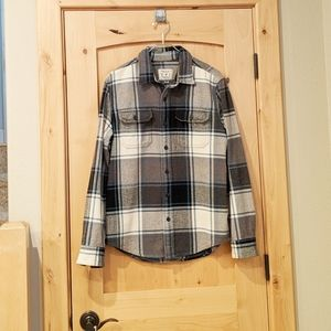 American Eagle Outfitters Blue/Gray Plaid Shirt M